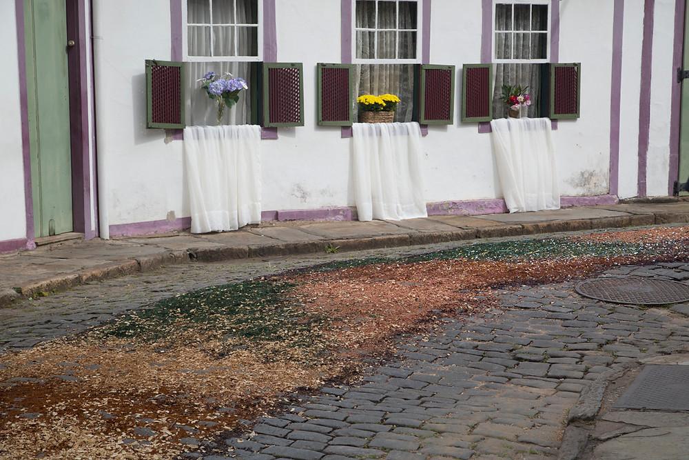 Tapete de Semana Santa em Ouro Preto