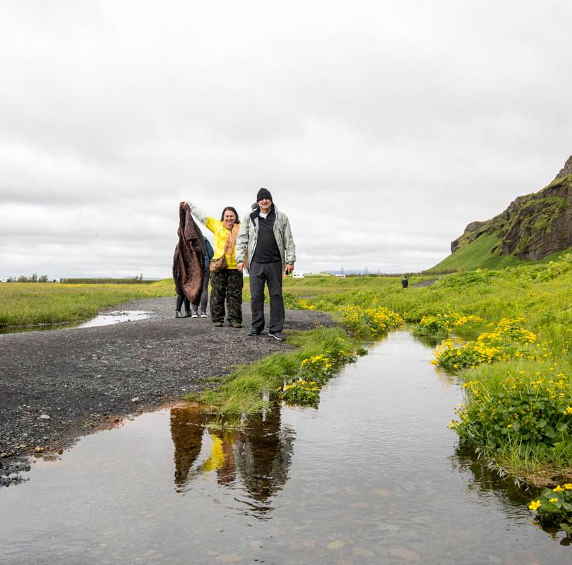 campos perto da Seljalandsfoss