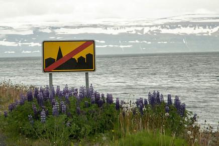 placa indicando fim da cidade