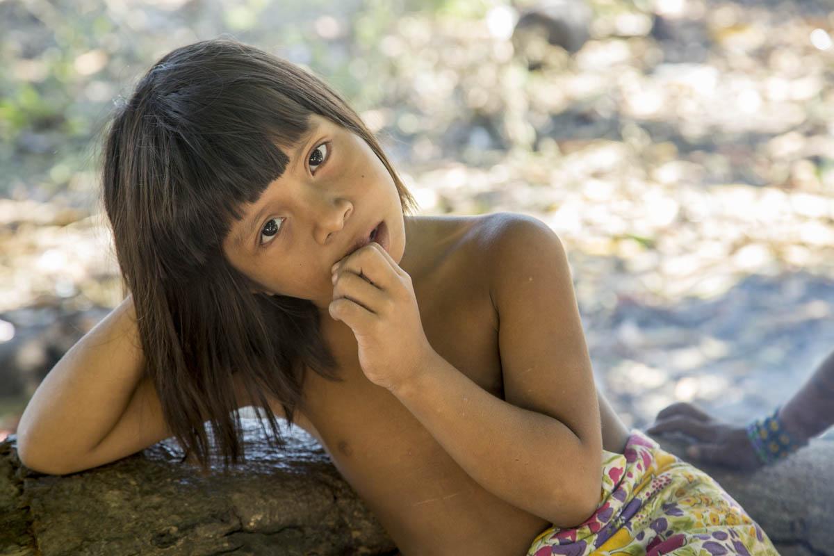 Retratos de índios Krahôs