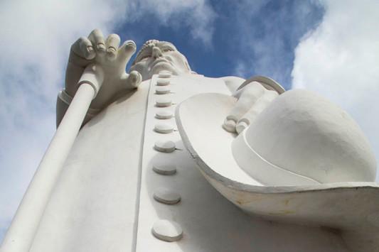 Estátua de Padre Cícero no Morro do Horto em Juazeiro do Norte, Ceará