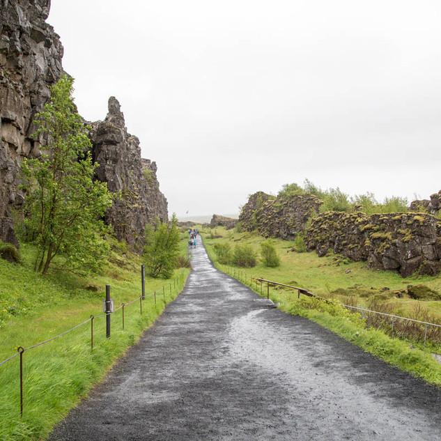 caminhos no Þingvellir