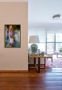 sala de estar com foto da festa Romaria de Finados Padre Cícero