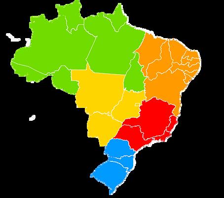 Mapa do Brasil para seleção das festas populares brasileiras por região