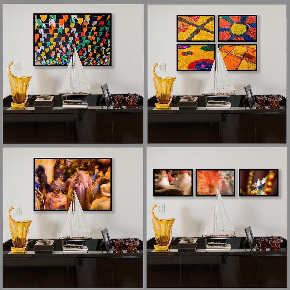 4 opções de imagens para decoração da sala de estar