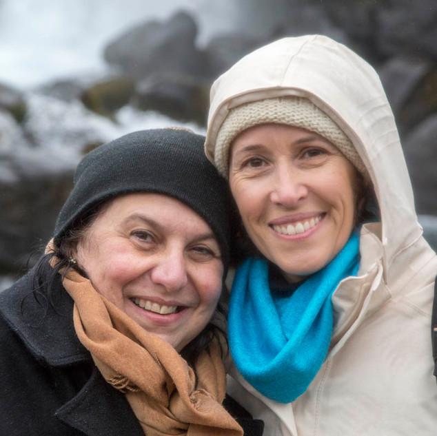 Fer e Andrea no Þingvellir