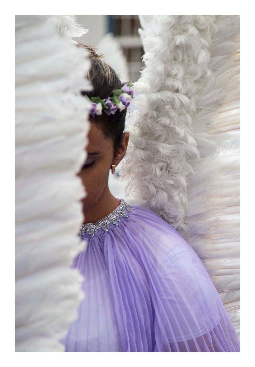 Anjo na procissão de Páscoa de Ouro Preto