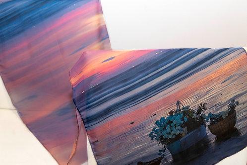 Imagem da echarpe rosa da festa de Iemanjá