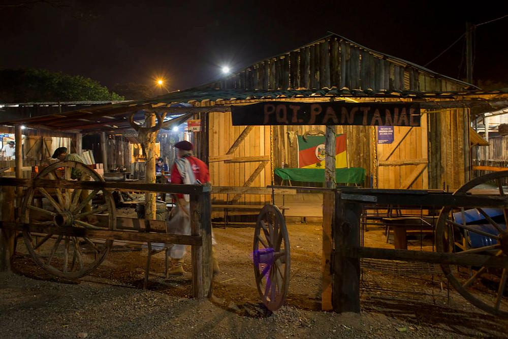 Piquete no acampamento Farroupilha de Porto Alegre