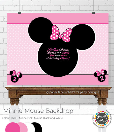 Pink Minnie Mouse Party Backdrop
