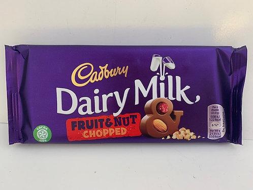 5x Dairy Milk,5 x Fruit and Nut