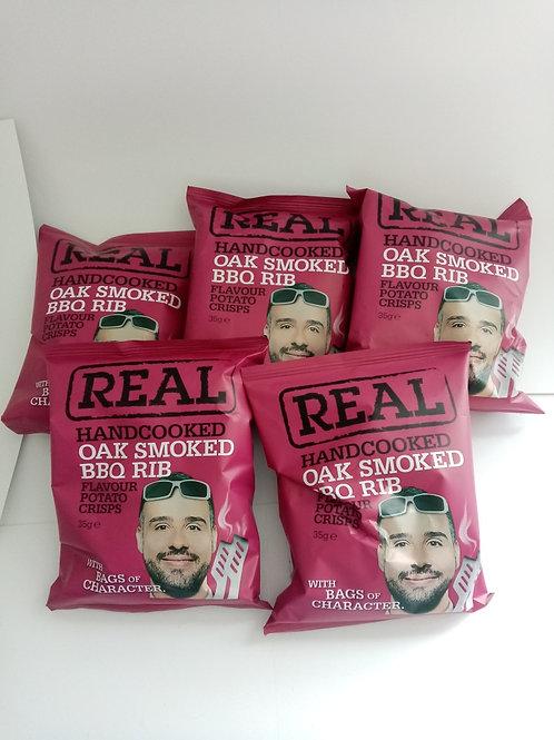Real Crisps BBQ Rib 5 pack clearance