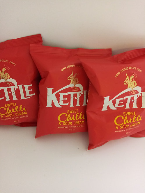 Kettle crisp sweet chilli and sour cream 3 pack