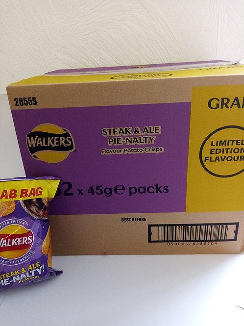 Walkers pie nalty crisps grab bags
