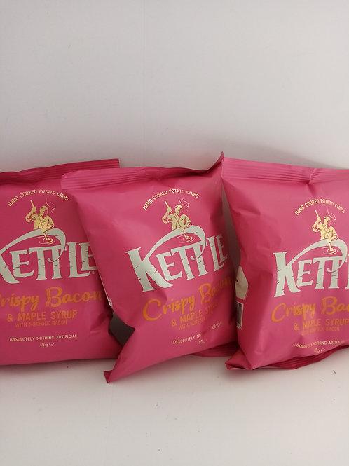 Kettle crispy bacon 3 pack