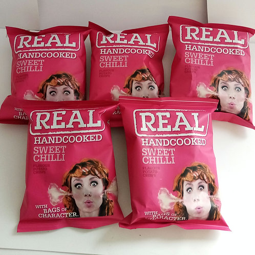 Real crisps sweet chilli 5 pack