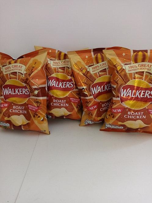 Walkers roast chicken 4 pack
