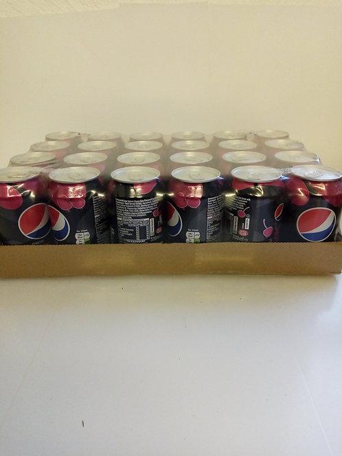 Pepsi max cherry cans