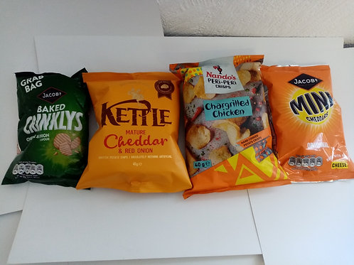 Mixed crisps 4 pack clearance