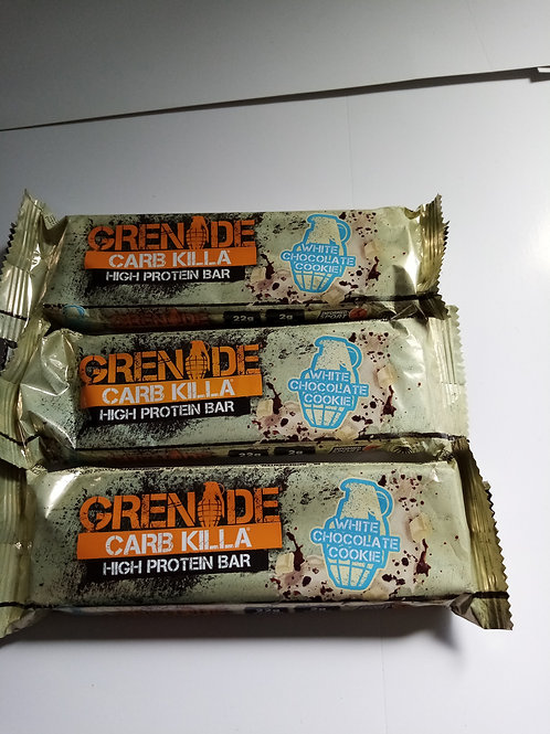 Grenade high protein white chocolate cookie