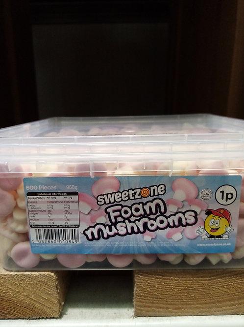 Sweet zone foam mushrooms