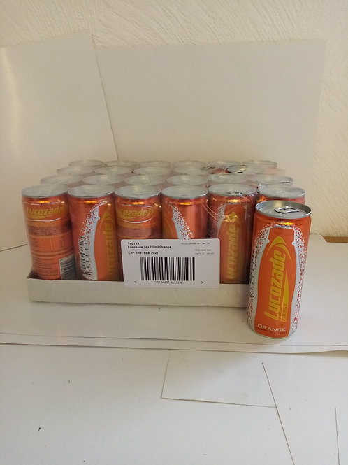 Lucozade energy cans
