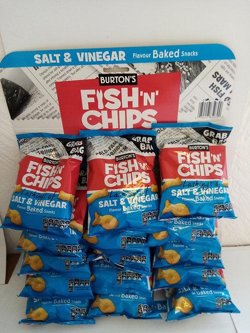 Burton fish and chips grab bags