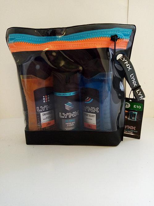Lynx energised wash bag