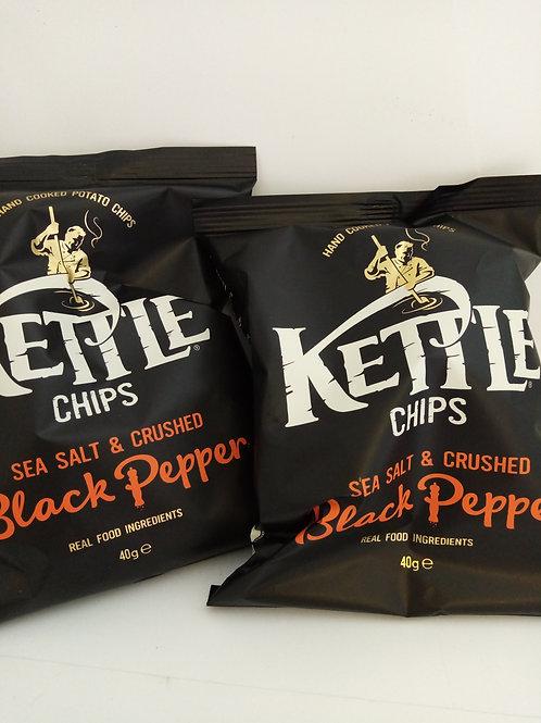 Kettle salt and Black pepper 2 pack