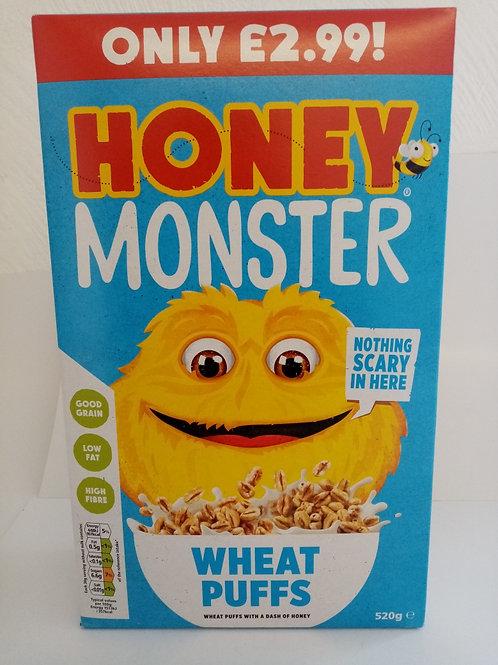 Honey Monster Wheat Puffs 520g