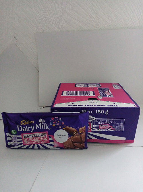 Dairy Milk jelly popping candy bar 180g