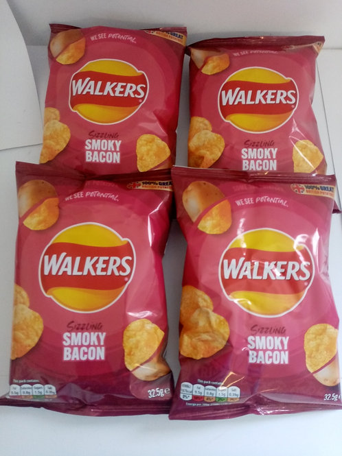 Walkers Smoky Bacon 4 pack clearance