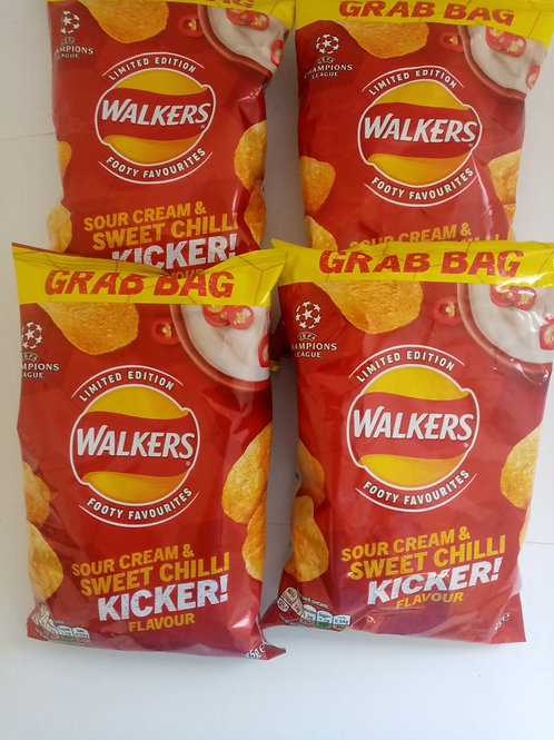 Walkers Sour Cream & Sweet Chilli 4 pack Clearance