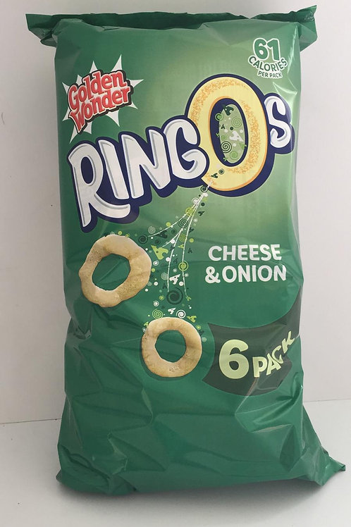 Ringos cheese and onion 6 pack