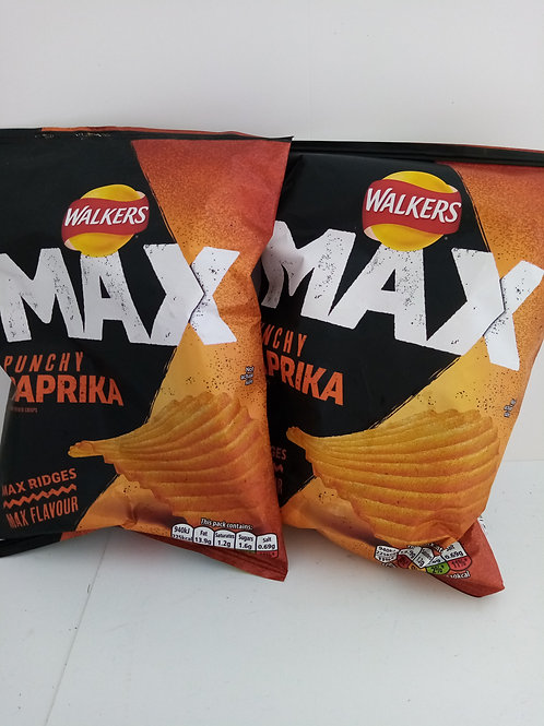Walkers max punchy paprika 2 pack