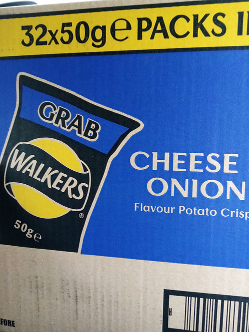 Walkers cheese and onion grab bags