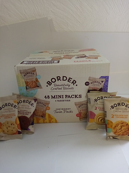 Borders 48 mini pack biscuits