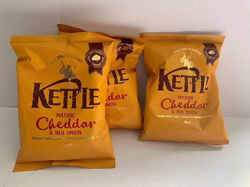 Kettle cheese and red onion 3 pack