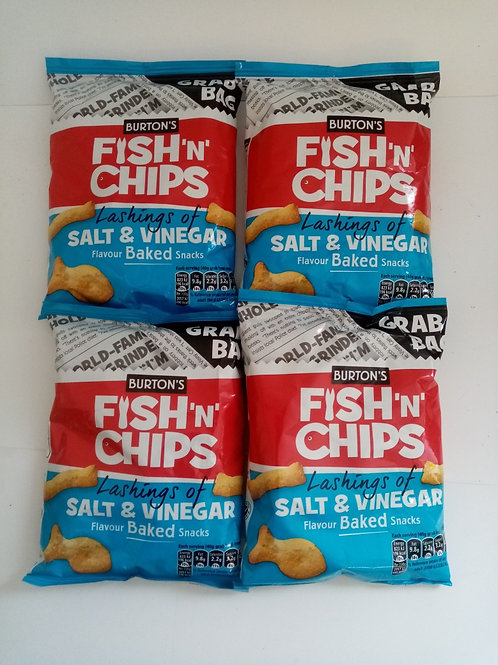 Burtons Fish n Chips Grab Bags 4 pack clearance