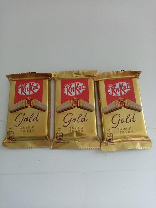 Kit Kat Gold 4 finger 3 pack clearance