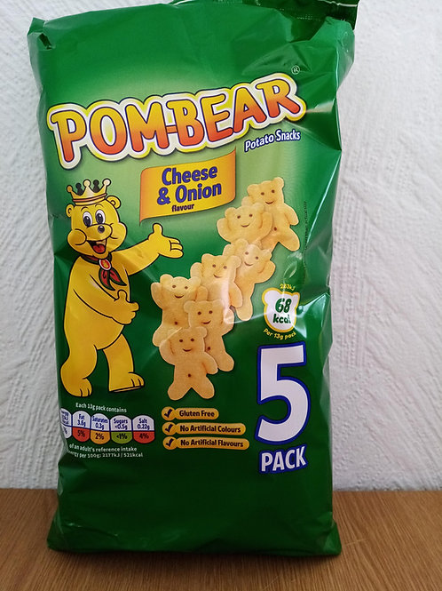 Pomme Bears Cheese and Onion 5 pack