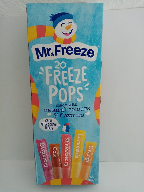 Mr Freeze 20 Freeze Pops