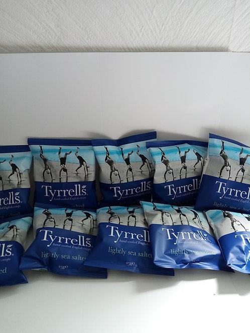 Tyrerrels lightly salted 10 pack