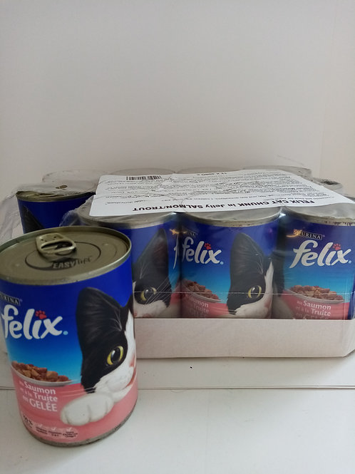 Felix salmon and trout in jelly cans 12 x 400g