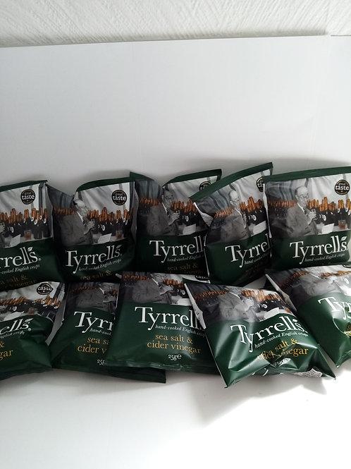 Tyrerrels sea salt and cider vinegar 10 pack