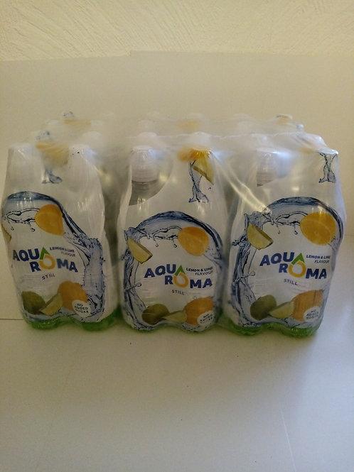 Aquaroma lemon and lime 24 pack