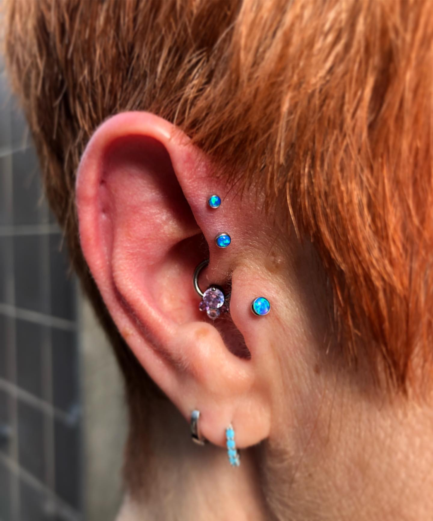 fresh dbl forward helix and tragus