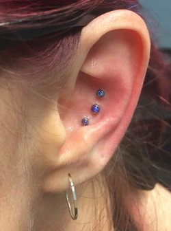 triple conch with purple opals from qual