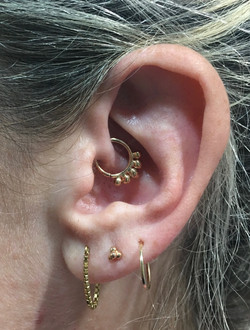 daith with danila tarcinale solid 18k go