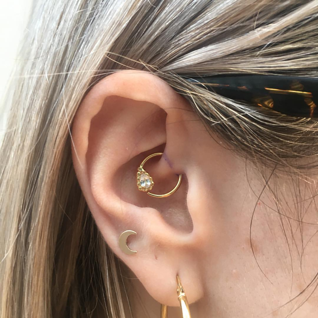 Daith with Danila Tarcinale solid 18kt y